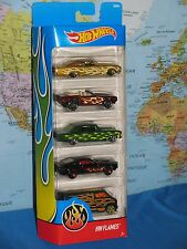 HOT WHEELS HW FLAMES 1965 CHEVY IMPALA 1969 CAMARO 1966 NOVA 1967 SHELBY 5 PACK