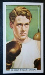 Lord Clydesdale  Boxing Marquis    Original 1930's Vintage Colour Card ## VGC