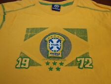 Brasil  Five Star Vintage by Blue Marlin Yellow  T-Shirt  Brazil   Medium   F5