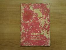 Truimph Dolomite Owners Handbook/Manual
