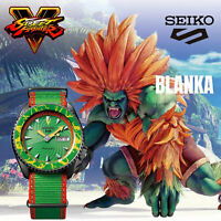 SEIKO 5 Sports Street Fighter V BLANKA Green Dial Limited Edition Watch SRPF23K1