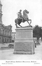 SOUTH AFRICA SOLDIERS' MONUMENT VICTORIA AUSTRALIA AMERICAN FLEET POSTCARD 1909