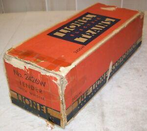 Lionel Postwar 2426W Tender With Whistle Original 3-City BOX & LINER ONLY ~ Fair