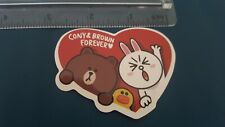 Cony and Brown in heart sticker