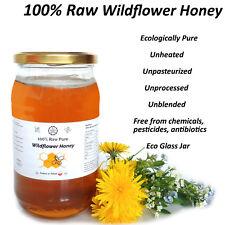 100% Raw Pure WILDFLOWER HONEY - Unheated, Unpasteurized, Unprocessed 1 kg