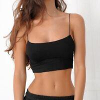 Hot Fashion Women Tank Top Bustier Bra Vest Crop Singlet T Shirt Bralette Blouse