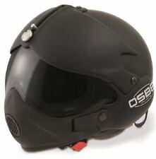 OPEN FACE MOTORCYCLE HELMET OSBE GPA AIRCRAFT TORNADO BLACK XXL 63cm+ & MASK