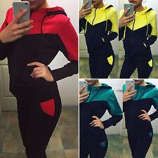 Damen Jogginganzug Trainingsanzug Sportanzug Langarm Sweatjacke Pullover + Hose
