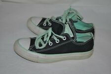 CONVERSE ALL STAR double tongue Green lace WOMEN'S 6 tennis sneakers SHOES VGC