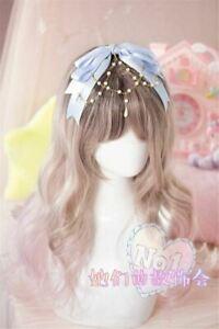 Princess Girl Big Ribbon Bowknot Pearl Tasseled Hair Band Fashion Women Headwear