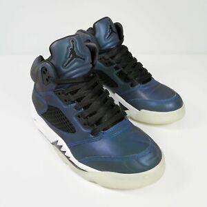 Nike Air Jordan Retro 5 Iridescent Oil Grey Trainers Sneakers Reflective UK 5.5
