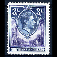 NORTHERN RHODESIA 1938-52 3s Violet & Blue. SG 42. Fresh Lightly Hinged (AM132)