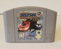 Rush 2 Extreme Racing USA Nintendo 64 N64 Video Game Super Fun Retro Kids