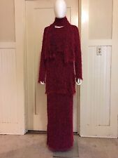 SHAGGY FUR OUTFIT 3-pc maxi dress club kid rave novelty grunge vintage 1990s 90s