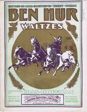 Ben Hur Waltzes, Chas. Hoffman, 1900,  vintage sheet music