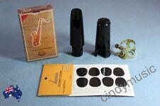 Alto Saxophone Mouthpiece combination/1xCap/1x Metal Ligature/10xReeds/8xpads