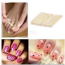 100Pcs Orange Wood Nail Art Stick Cuticle Pusher Remover Pedicure Manicure Tool