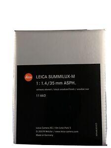 Leica Summilux-M 35mm f/1.4 6-BIT Aspherical FLE Wide Lens Mint Condition