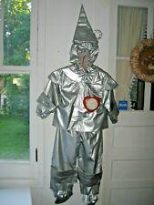 LICENSED DELUXE WIZARD OF OZ TIN MAN COSTUME VINYL SUIT/VEST/HEART-RUBIES - 4-6