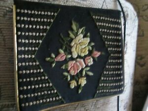 Vintage fabric Floral patterned covered notebook, plain pages