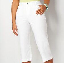 NWT Ladies PLUS WHITE Capri Pants Size 22W RETAIL $44.95 CHRISTOPHER & BANKS