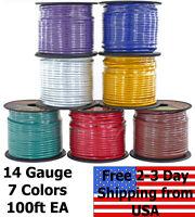 14 Gauge 7 Color Copper Clad 12V Automotive RV Trailer Hook Up Auto Primary Wire