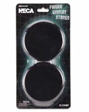 "10x Neca Action Figure Display Stands Black For Most 6-8"" plastic 3.5"" Round"