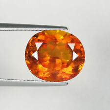 7.51 cts  GOOD QUALITY RARE  FIRE ORANGE 100% NATURAL CLINOHUMITE OVAL  _ 4582