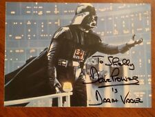 Signed Dave Prowse is Darth Vader 5 by 7