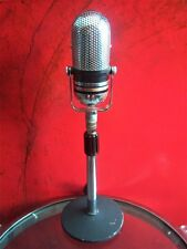 Vintage 1960's Midland 22-104 crystal microphone pill Japanese old RCA w stand