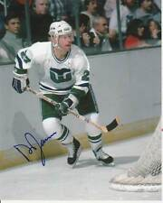VINTAGE DOUG JARVIS SIGNED HARTFORD WHALERS 8x10 PHOTO #1 NHL IRONMAN Autograph
