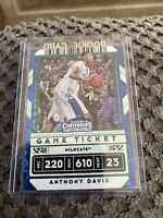 Anthony Davis •2020-21 Panini Contenders Draft• Green Explosion Game Ticket No.7