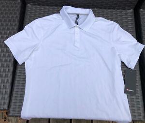 Lululemon Tech Pique Polo Shirt Top White XL Short Sleeve New NWT