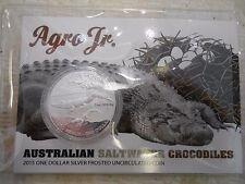 Australian Saltwater Crocodiles Agro Jr 1 oz Silver Frosted UNC Coin Steve Irwin