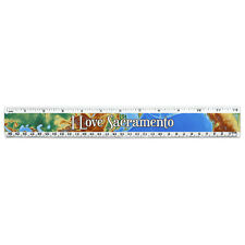 12 Inch Standard and Metric Plastic Ruler I Love Heart Places S