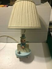 Vintage Wooden Humpty Dumpty Lamp with Shade Nursery Plastic Co Tested and Works