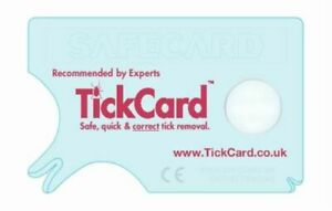 Tick Removal Tool TickCard - Tick Remover Card Safecard - not twister device Cat