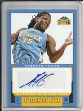 Kenneth Faried 12/13 Panini Autograph