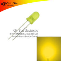 100pcs LED 5mm Diffused LED Yellow-Yellow Round Top F5 DIP Light Emitting Diodes