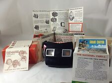 1942 View Master With Box 6 Reels Hoover Dam, Iowa, Mesa Verde And Oklahoma