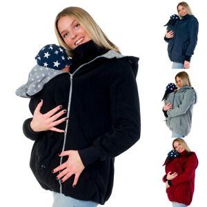 3in1 Tragejacke für Tragetuch Bauchtrage Umstandsjacke Jacke Fleece D127