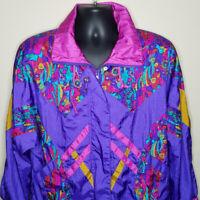 Misty Valley Womens Windbreaker Jacket Size Small Vintage 90s Nylon Color Block