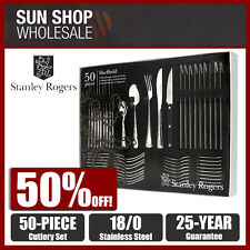 Stanley Rogers Sheffield 50pc Cutlery Set for 10 People