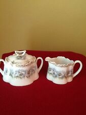 Sugar And Creamer Z. S. Bavaria beautiful With Blue Flowers With Gold Trim