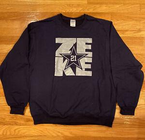 Ezekiel Elliott #21 FEED ZEKE Dallas Cowboys NFL Sweater Sweatshirt Long Sleeve