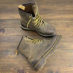Vintage Doc Martens Brown Nubuck Leather Lace Boots Kids Sz US 3 YOUTH England