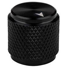 Small Aluminum Amp Pot Knob Black