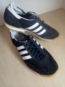 Mens Adidas SL72 Blue Suede Mesh Running Trainers UK 8.5 EU 42 2/3