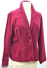 JONES NEW YORK Burgundy Red Velvet Holiday Suit Coat Blazer Jacket SIZE P L NEW