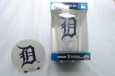 Detroit Tigers 16-Ounce Pint Glass & 4 Coasters Gift Set